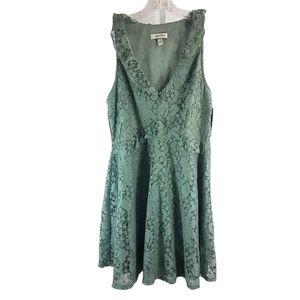 Speechless Sage Green Lace V-Neck Dress NWT Large